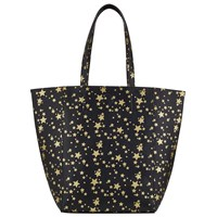 Collection Weekend By John Lewis Star Print North South Tote Black Gold