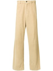 Our Legacy Corduroy Wide Leg Trousers Yellow Orange
