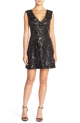 Women's Tracy Reese Embellished Mesh Fit And Flare Dress