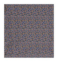 Harrods Of London Paisley Silk Handkerchief Unisex