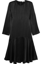 Ganni Sanders Satin Dress Black