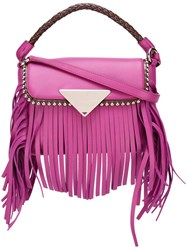 Sara Battaglia Mini 'Amber' Cross Body Bag Pink Purple