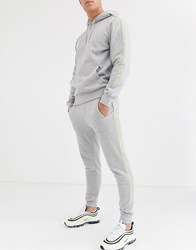 Another Influence Slim Fit Jogger With Neon Piping Grey