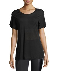 Koral Euphoria Scoop Back Performance Jersey Top Black