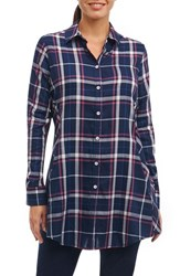 Foxcroft 'S Cici Plaid Shirt Navy Plaid