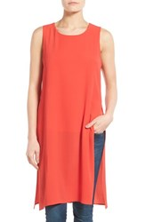 Women's Bobeau Double Layer Side Slit Tunic