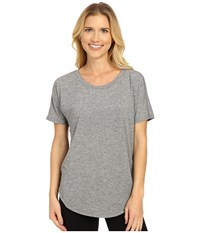 Lucy Final Rep S S Asphalt Heather Women's Short Sleeve Pullover Gray