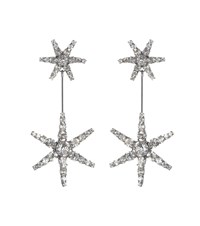 Jennifer Behr Starburst Crystal Earrings Silver