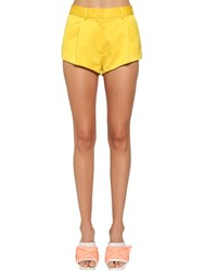 Heron Preston Tailored Heavy Satin Shorts Yellow
