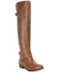 Material Girl Carleigh Tall Riding Boots Only At Macy's Women's Shoes Cognac