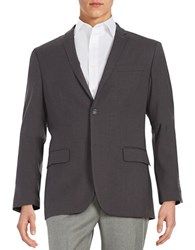 Perry Ellis Slim Fit Two Button Jacket Charcoal