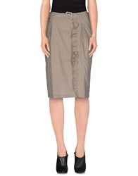 Just In Case Skirts Knee Length Skirts Women Dark Brown