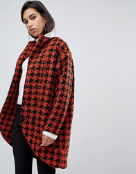 Y.A.S Dogtooth Oversized Coat A12 1Col Check Multi