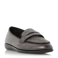 Linea Gazel Quilted Loafers Pewter