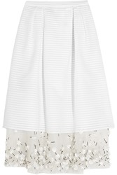 Mother Of Pearl Hudson Embellished Cotton Blend And Voile Skirt