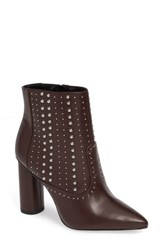 Bcbgmaxazria Bcbg Hollis Studded Bootie Burgundy Faux Leather