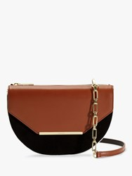 Ted Baker Ferrn Colour Block Leather Cross Body Bag Tan
