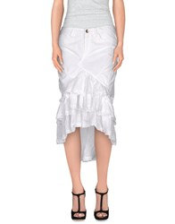 Mason's Skirts Knee Length Skirts Women White