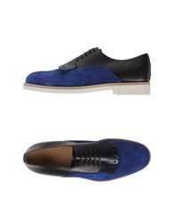 Sergio Rossi Footwear Lace Up Shoes Men Blue