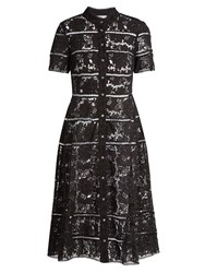 Zimmermann Gossamer Bell Lace Cotton Dress Black
