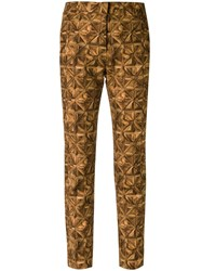 Andrea Marques Slim Fit Trousers Brown