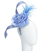 John Lewis Jade Rose And Feather Fascinator Sky