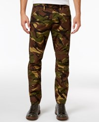 G Star Raw Men's Elwood X25 Woodland Camouflage Print Jeans Fall Ao