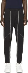 Alexander Mcqueen Black Topstitched Lounge Pants