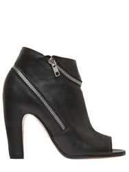 Maison Martin Margiela 100Mm Wrap Zip Leather Ankle Boots