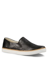 Ugg Hadria Semi Brogue Leather Slip On Sneakers Black
