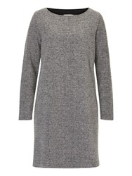 Betty Andco. Co. Stretch Tweed Dress Black Grey