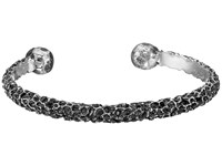 King Baby Studio Lava Rock Textured Cuff Bracelet Silver
