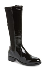 Bos. And Co. Brook Waterproof Knee High Boot Black Patent Leather