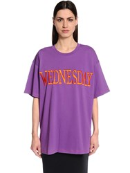 Alberta Ferretti Wednesday Oversized Jersey T Shirt