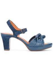 Chie Mihara Double Tie Sandals Blue