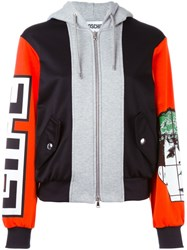 Moschino Panelled Hoodie Multicolour
