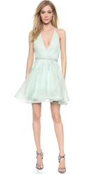 Alice Olivia Brookie Halter Dress Aqua