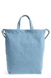 Baggu 'Duck Bag' Canvas Tote Blue Washed Denim