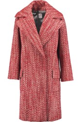 Stella Jean Boucle Coat Red