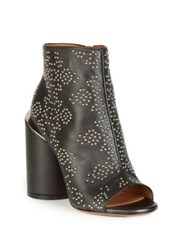 Givenchy Carpet Pattern Studded Leather Booties Black