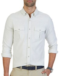 Nautica Slim Fit Double Pocket Moleskin Shirt Shell