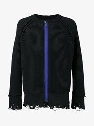 Haider Ackermann Chunky Distressed Jumper Black
