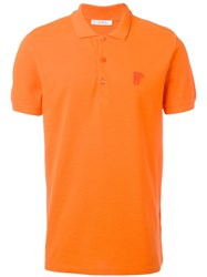 Versace Collection Classic Polo Shirt Yellow Orange