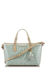 Brahmin Mini Asher Croc Embossed Leather Tote