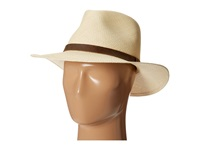 Tommy Bahama Panama Outback Hat With Leather Trim Natural Traditional Hats Beige