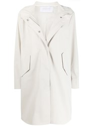 Harris Wharf London Relaxed Fit Hooded Coat 60
