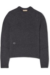 Michael Kors Collection Embellished Cashmere Sweater Charcoal