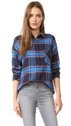 Rails Jackson Flannel Button Down Shirt Black Azure
