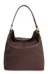 Frye Paige Leather Hobo Brown Dark Brown