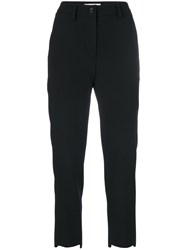Societe Anonyme Raw Skinny Trousers Women Wool 44 Black
